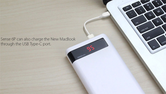 Romoss Sense 6p 20 000mah Aesthetic Design Dual Output Led