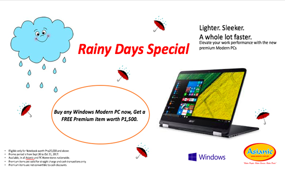 Windows 10 Rainy Days Promo