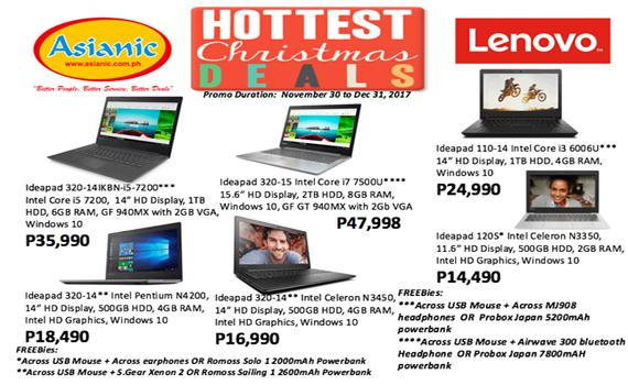Asianic - Lenovo Christmas Deals