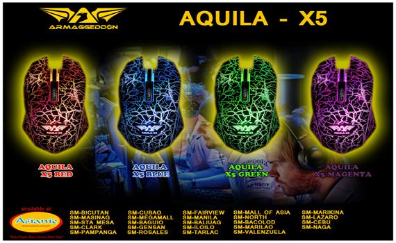 Armaggeddon Aquila x5 Gaming Mouse