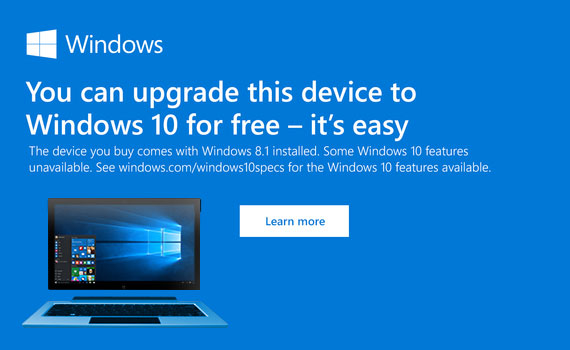 Get Windows 10 Free