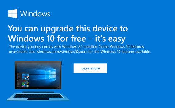 Get Windows 10 Free