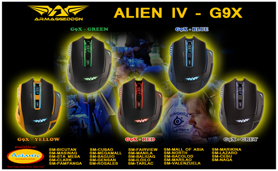 Armaggeddon Alien IV Gaming Mouse