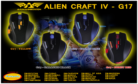Armaggeddon Alien Craft IV G17 Gaming mouse