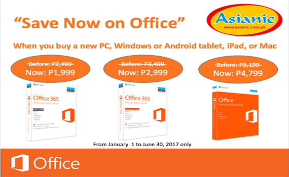 Microsoft Office Save Now Promo