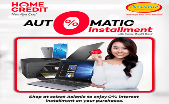 Home Credit Automatic 0% Installment Offer