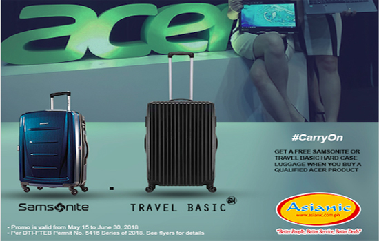 Acer X Travel Basic X Samsonite Back to School Promo