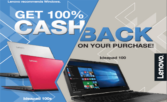 Lenovo Back to School Cash Back Promo!!!