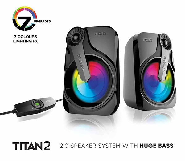 Sonic Gear Titan 2 2.0 Speaker System with Extra Bass   Asianic ...