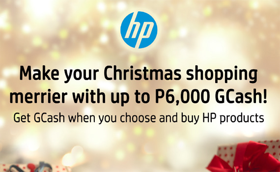 HP's Make your Christmas shopping merrier with up to P6,000 GCash!